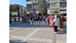 İsrail'in Mescid-i Aksa'ya yönelik saldırıları Turgutlu'da protesto edildi