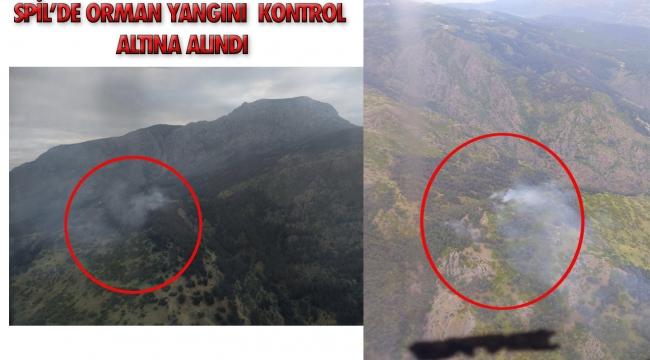 Spil dağındaki orman yangını kontrol altına alındı