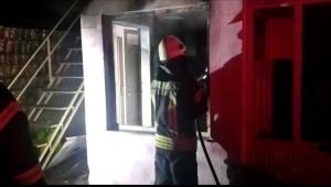 Turgutlu Gıda Çarşısında korkutan yangın